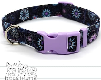 Dog Collar | GOANNA WALKABOUT | 2 Sizes 2 Widths | Collar with Plastic Metal Buckle Set | Australiana print | handmade by Togs 4 Mutts