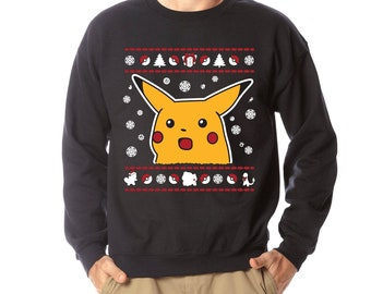 2d5a8afa Pikachu Surprised Meme Ugly Christmas Sweater