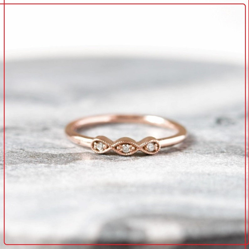 Diamond Wedding Band,14K Solid Gold Band,Engagement Band,Anniversary Band,Gift For Her,Lover Gifts Jewelry,Handmade Jewelry,Handmade Jewelry