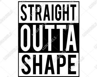 Straight outta shape svg, Clip Art, Svg files for cricut, Cliparts, Svg, Silhouette, Straight Outta Clipart, Straight, Outta