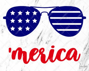 Merica SVG, Sunglasses SVG, Eyeglasses SVG, Glasses svg, Sunglasses svg file, Sun glass clipart, Sunglasses clipart, Cricut Cut files