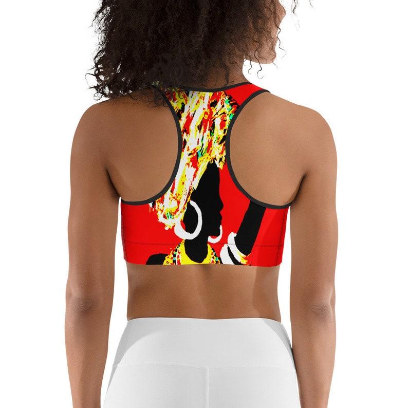 African Tribe Girl Sports bra