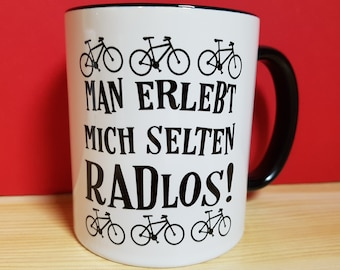 Bicycle Cup, Cyclist Gift, Cycling Sayings Coffee Cup, Funny Wheelless Saying
