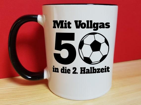 50 Geburtstag Fussball Geschenk Mann Mannergeschenk Spruche Tasse