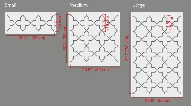 Seljukian OCTAGRAM Lace Wall Stencil Pattern Large WALL STENCIL Stencils For Walls Modern Geometric Wall Stencils for Painting