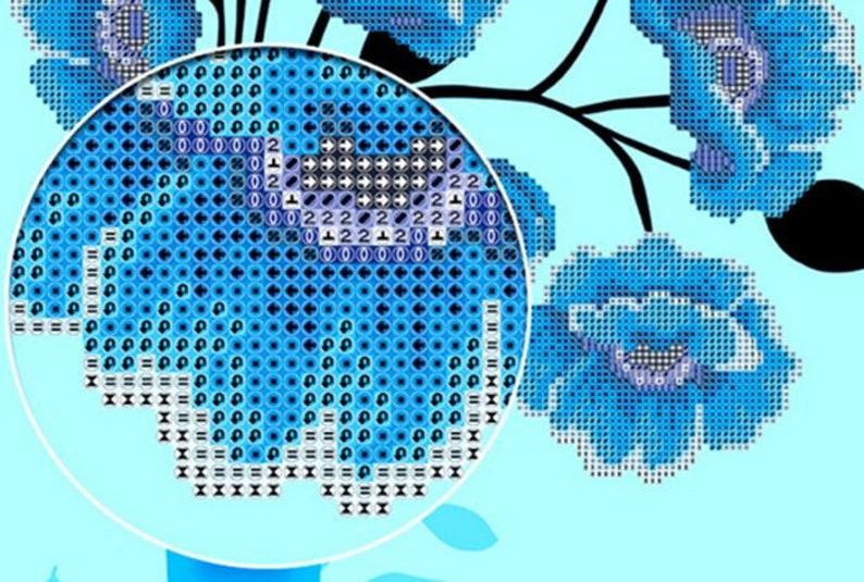 5D Square  Circle Diamond Cross Stitch Embroidery Painting Pattern Rhinestone Decoration Film Twilight Image Mosaic