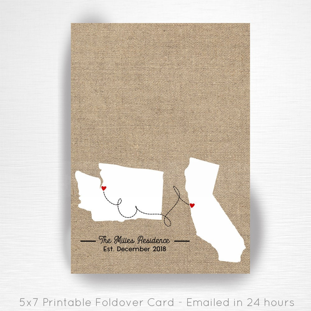 Closing gift New Home Art Closing Gifts Real Estate Our First HOME Wall Art Closing Gift 4 Buyers Closing Gift State w Heart Location