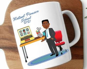 JW Virtual Zoom Pioneer School Mug 2021, Zoom Pioneer School Mug, JW Pioneer School Class Of 2021, Gifts For Black Brothers