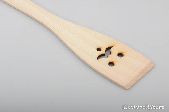 kitchen gift kitchen utensils wooden spatula Winking face spatula natural spatula foodie gift nonstick spatula
