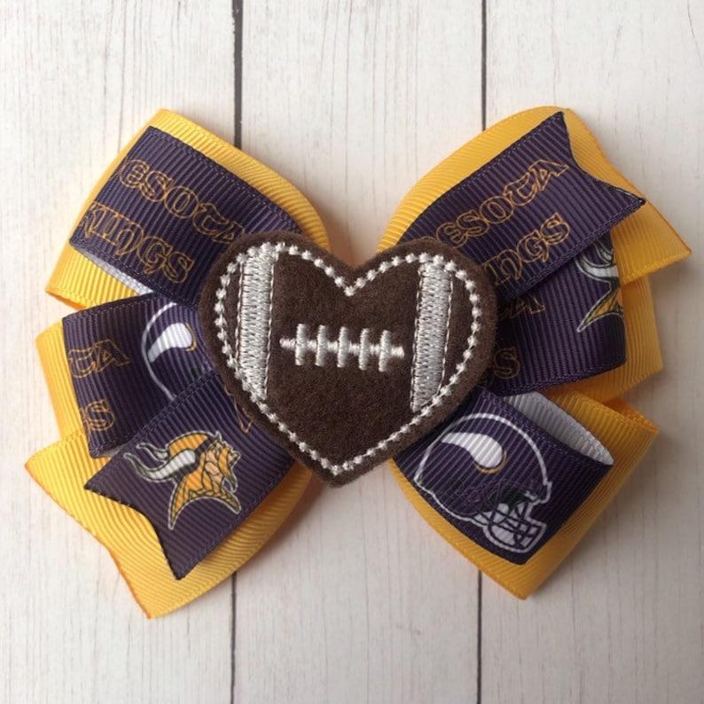 Minnesota Vikings Bow Ties and Hair Bows