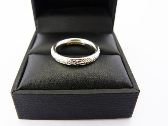 Sterling Silver Stacking Ring Size M Black Enamel Daisy Hans Henrik Nygaard..