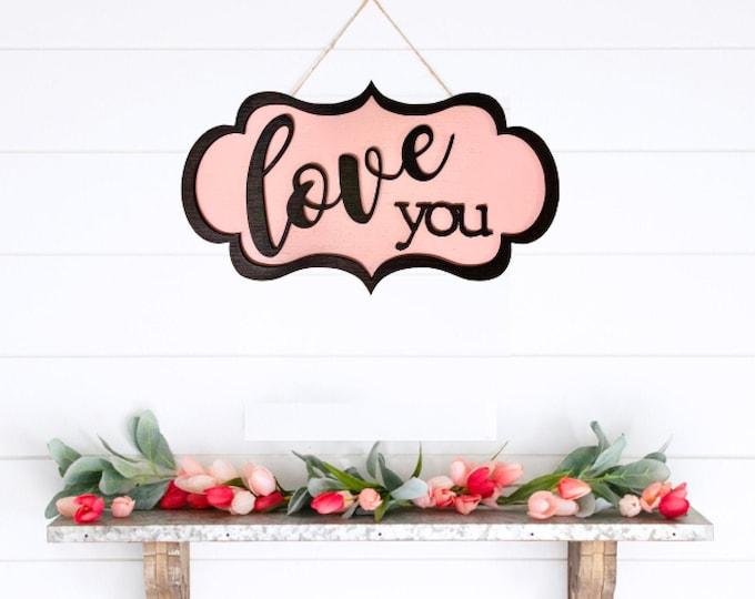 Home Decor Heart Decorations Love Sign Wood Sign Wall Sign Valentines Day Sign Home Decor Valentines Day Decor Farmhouse