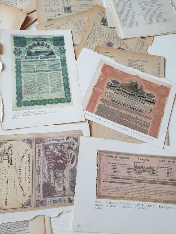 Receta Vintage//Libro Cocina 25 páginas materiales efímeros paquete scrapbooking basura Journal