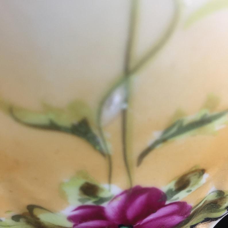 Lusterware Water Pitcher Japan Japanese World War II Hand Painted Tableware Vase Flowers Gift Kitchen Dining Entertaining