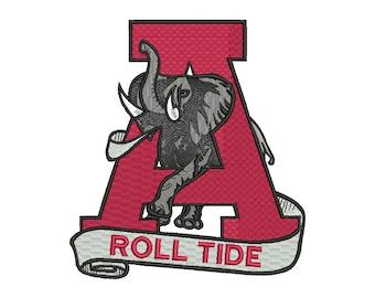 Alabama Crimson Tide Embroidery Design #6 - 4 SIZES