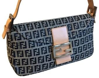 1dad829e5cd Fendi Zucchino Print Mamma Baguette Shoulder Bag
