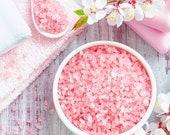 Himalayan Bath Salt With Rose Petals And Japanese Crystals Himalaya Badesalz mit Rosenblüten