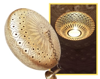 Moroccan Pendant Light , Chandelier Lighting  , Moroccan lamp handmade Brass lighting , Ceiling Light , Hanging Lamp  Mosaic Chandelier