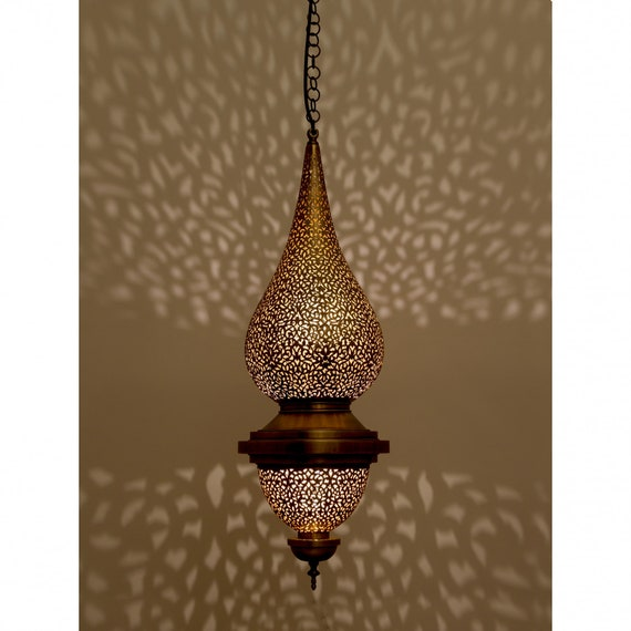 Flame Pendant Light Gold Chandelier Pendant Lighting Lamp Shades moroccan lighting