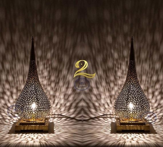 2 Luxury Moroccan Table Lamp, Desk Lamp, Night Light, Home Decor, Table Lamps, Table Lamp, Bedside Lamp, Vintage Lamp