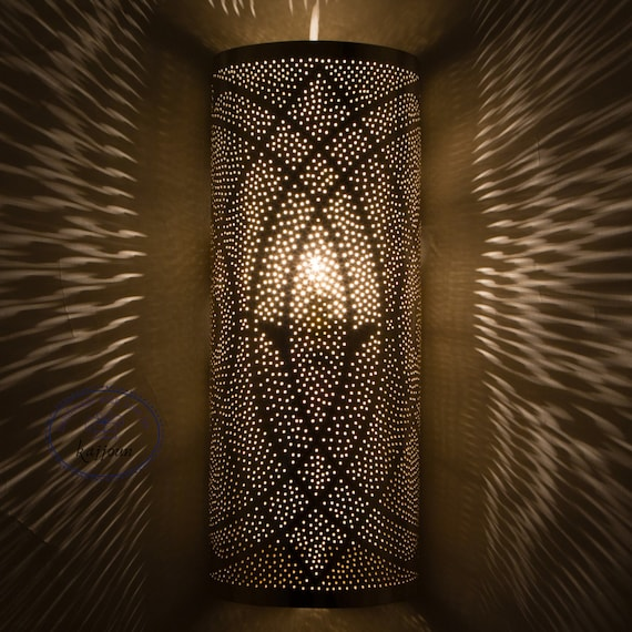 Moroccan Wall Sconce Light , Wall Lamp Sun design 2 Colors Available Wall Light Art Deco Wall Light Diffuser