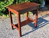 Antique Gustav Stickley Small Library Table Desk w3146