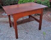 Rare Antique L jG Stickley Library Table w2636
