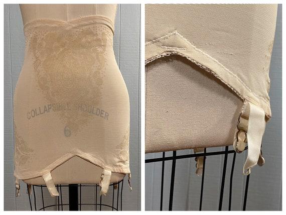60's WARNER's Vintage Nude Girdle Shapewear Garter