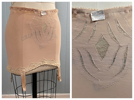 60's HOLLYWOOD VASSARETTE Vintage Nude Girdle Shap