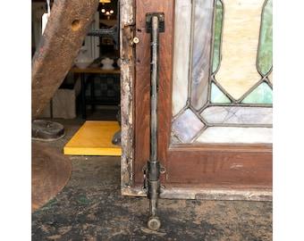 "Antique 12"" Surface Mount Slide Bolt French Door Casement Window Hardware"