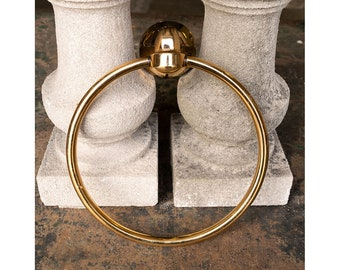 Salvaged Wall Mount Brass Bathroom Towel Ring Hardware