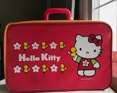 Vintage Hello Kitty Suitcase Sanrio Daisy Birds 060b306900