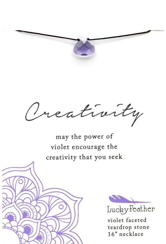Violet Color Power Necklace