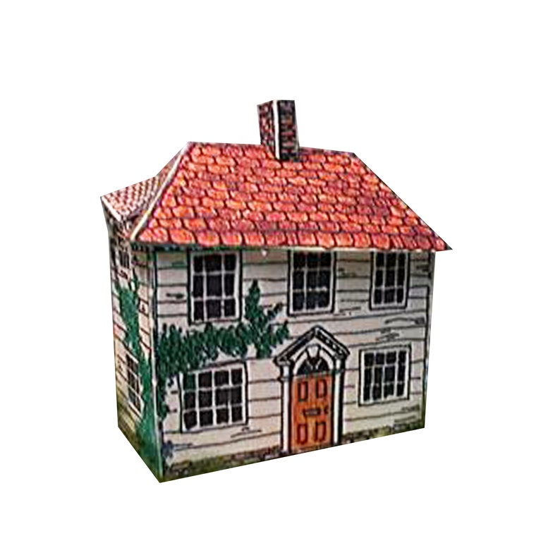 Paper house model weather board house