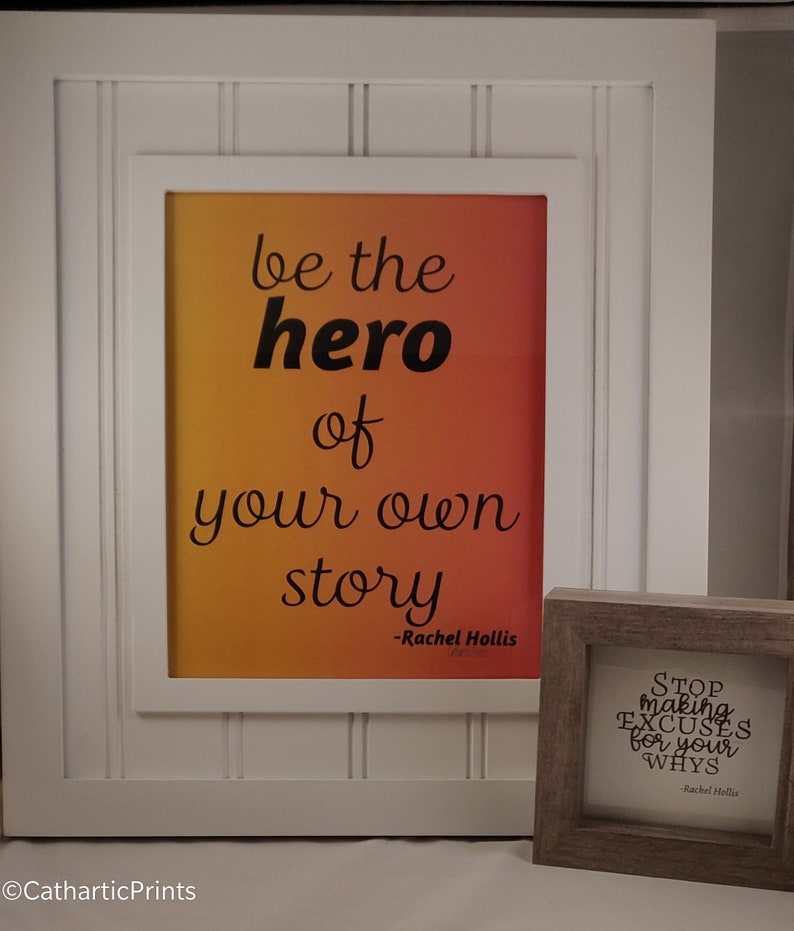 Rachel Hollis Quote Be The Hero Of Your Own Story Digital Etsy