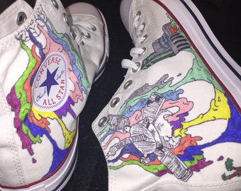 d5e262c8a3cf Twenty One Pilots Inspired Converse All-Star Shoes