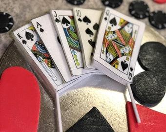 Edible poker cards