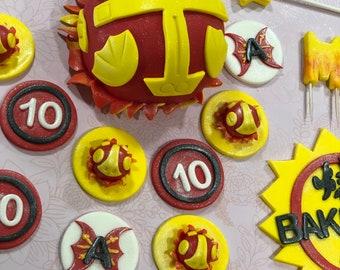 Bakugan cupcakes toppers