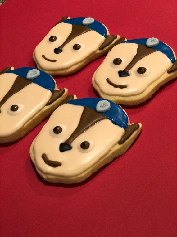 Paw Patrol cartoons inspired cookies