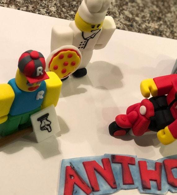 Inspired by ROBLOX Game cake toppers