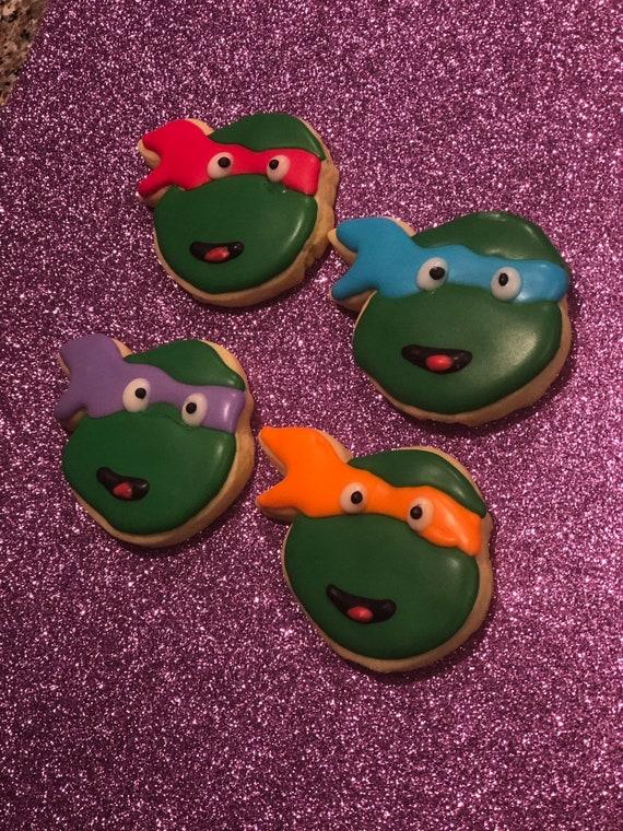 Ninja Turtles cartoons inspired cookies