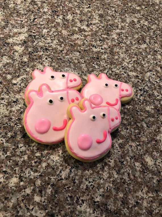 Peppa pig cartoons inspired cookies