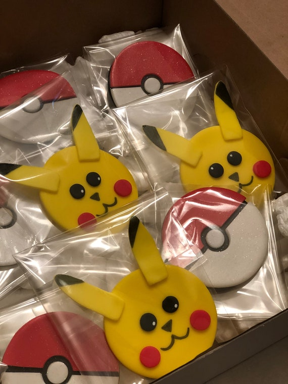 Pokemon inspired cupcake toppers