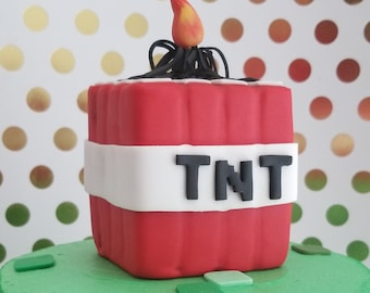 Inspired Tnt Creeper Minecraft Edible Cake Toppers