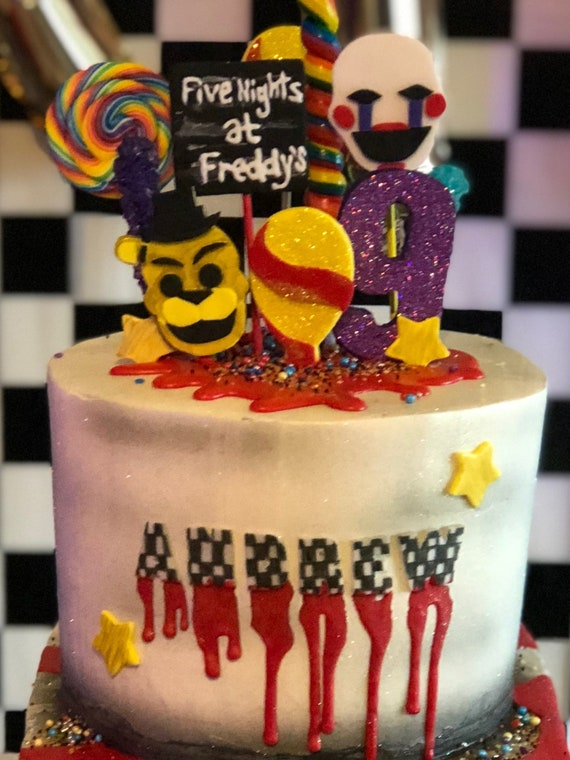Five Nights at Freddy's inspired  cake toppers