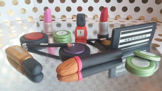 Sephora cosmetics inspired cake toppers