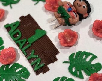 Edible Hawaiian cake toppers, aloha toppers, tropical toppers