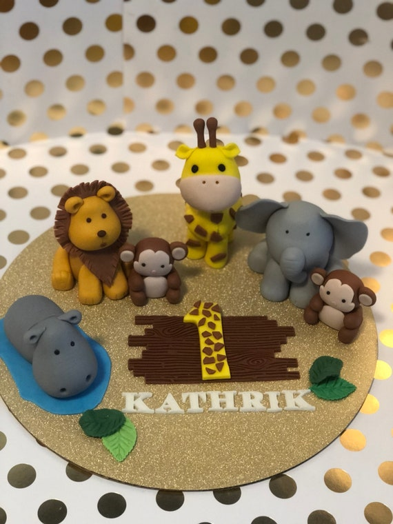 Baby animals cake toppers
