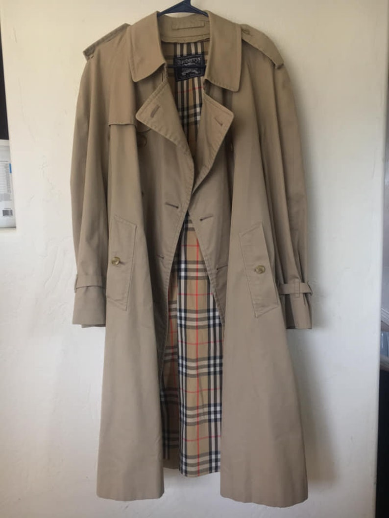 95eae79d7 Vintage Burberry Trench Coat XL