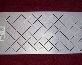 1 x 2 Diamond Grid Quilting Stencil 255